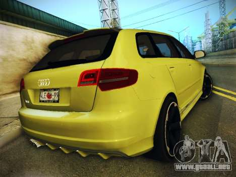 Audi RS3 2013 para GTA San Andreas left