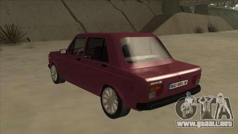 Zastava Yugo 128 para GTA San Andreas vista hacia atrás