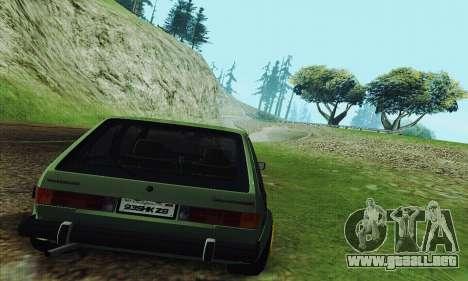 Volkswagen Rabbit GTI 1986 Cult Style para la visión correcta GTA San Andreas