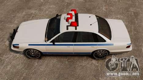 Policía en un unidades de 20 pulgadas para GTA 4 visión correcta