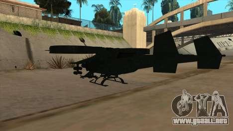 AT-99 Scorpion Gunship from Avatar para GTA San Andreas vista hacia atrás