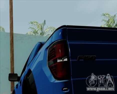 Ford F-150 SVT Raptor 2011 para visión interna GTA San Andreas