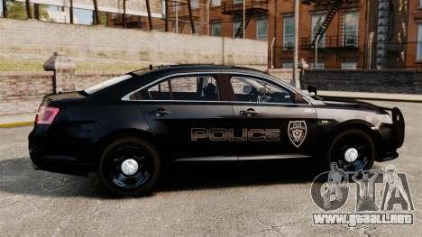 Ford Taurus Police Interceptor 2013 LCPD [ELS] para GTA 4 left