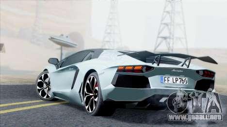 Lamborghini Aventador LP760-2 2013 para GTA San Andreas vista hacia atrás