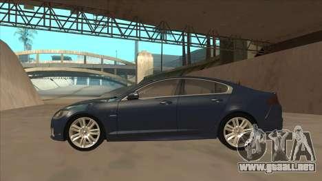 Jaguar XFR 2010 v1.0 para GTA San Andreas vista posterior izquierda