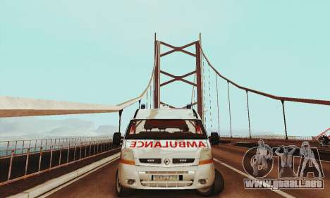 Renault Master PCSO AMBULANCE para GTA San Andreas left