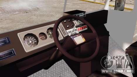 Chevrolet Step-Van 1985 NYPD para GTA 4 vista hacia atrás