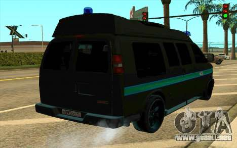 GMC Savana AWD FSB para GTA San Andreas left