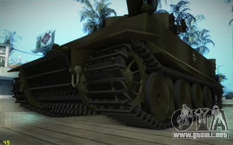 Pzkpfw VI Tiger I para GTA San Andreas left
