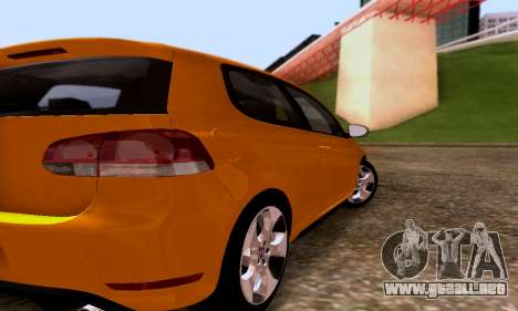Volkswagen Golf 6 GTI para la visión correcta GTA San Andreas