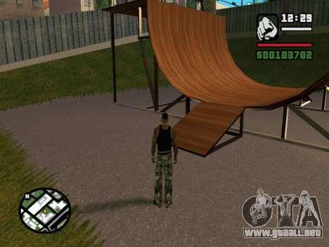 New BMX Park v1.0 para GTA San Andreas quinta pantalla