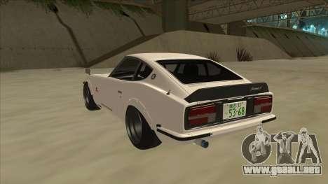 Nissan Fairlady Z - 240z para la visión correcta GTA San Andreas