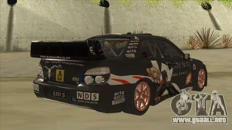 Subaru Impreza WRC Itasha para la visión correcta GTA San Andreas