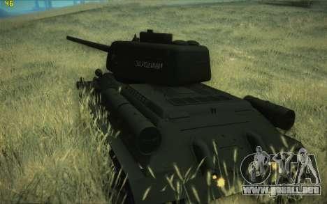 Modelo T-34-85 1945 para GTA San Andreas left