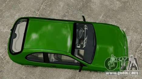 Daewoo Lanos FL 2001 US para GTA 4 vista hacia atrás