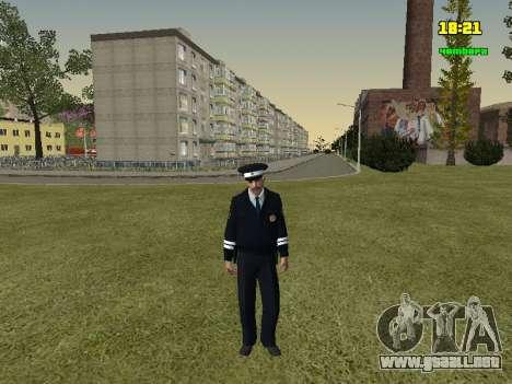 Oficial de policía de tráfico ruso para GTA San Andreas segunda pantalla