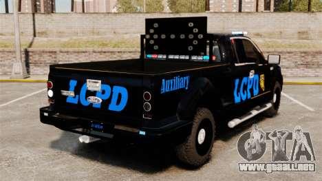 Ford F-150 v3.3 LCPD Auxiliary [ELS & EPM] v1 para GTA 4 Vista posterior izquierda