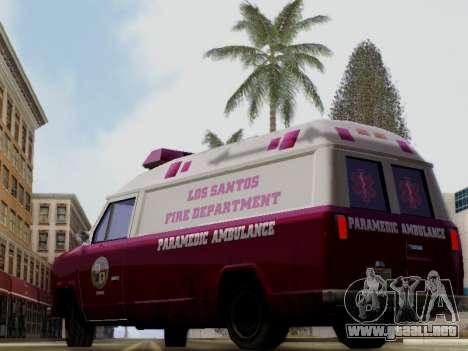Vapid Ambulance 1986 para GTA San Andreas left