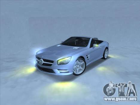 Mercedes-Benz SL500 2013 (ImVehFt v2.02) para GTA San Andreas vista posterior izquierda
