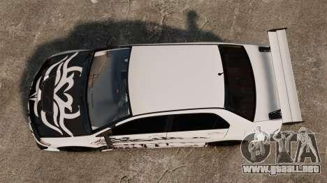 Mitsubishi Lancer Evolution VIII MR CobrazHD para GTA 4 visión correcta