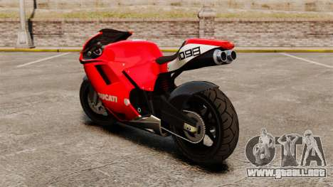 Ducati 1098 para GTA 4 Vista posterior izquierda