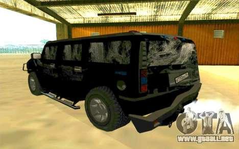 Hummer H2 para GTA San Andreas interior