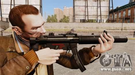MP5SD subfusil ametrallador v1 para GTA 4