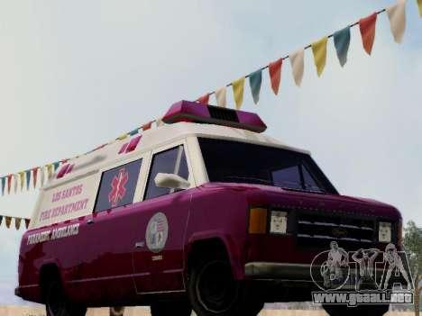 Vapid Ambulance 1986 para GTA San Andreas