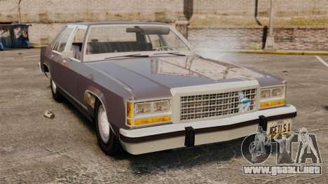 Ford LTD Crown Victoria para GTA 4