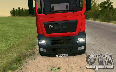 MAN TGX para GTA San Andreas left