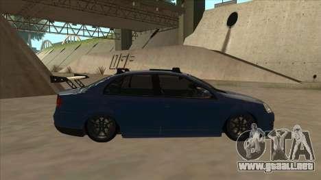 Volkswagen Bora GTI 2011 v1 para GTA San Andreas vista posterior izquierda