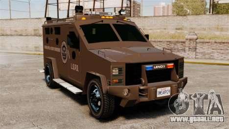 Lenco Bearcat blindados LSPD GTA V para GTA 4
