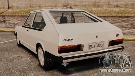 Volkswagen Passat TS 1981 para GTA 4 Vista posterior izquierda