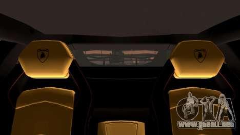 Lamborghini Aventador LP760-2 2013 para la vista superior GTA San Andreas