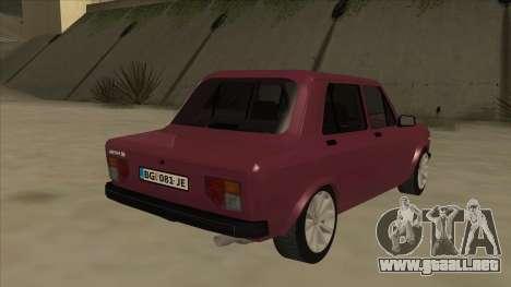 Zastava Yugo 128 para la visión correcta GTA San Andreas