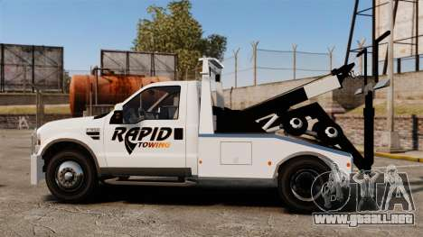 Ford F-550 Towtruck Rapid Towing [ELS] para GTA 4 left