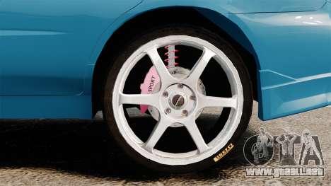 Subaru Impreza para GTA 4 vista hacia atrás