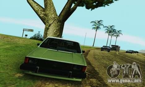 Volkswagen Rabbit GTI 1986 Cult Style para GTA San Andreas vista hacia atrás