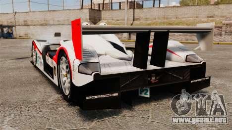 Porsche RS Spyder Evo para GTA 4 Vista posterior izquierda