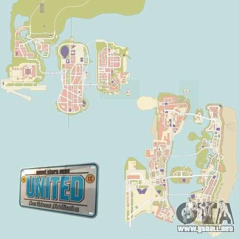 GTA United 1.2.0.1 para GTA San Andreas segunda pantalla