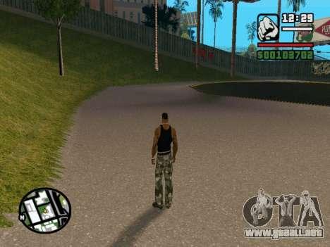 New BMX Park v1.0 para GTA San Andreas sucesivamente de pantalla