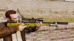 AW L115A1 rifle de francotirador con un silenciador v3 para GTA 4