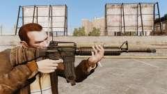 Un rifle de asalto estadounidense M16A4