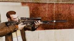 AW L115A1 rifle de francotirador con un silenciador v5 para GTA 4