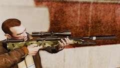 AW L115A1 rifle de francotirador con un silenciador v7 para GTA 4