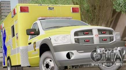 Dodge Ram Ambulance BCFD Paramedic 100 para GTA San Andreas