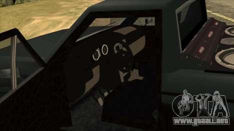 NEW Bobcat para GTA San Andreas vista hacia atrás