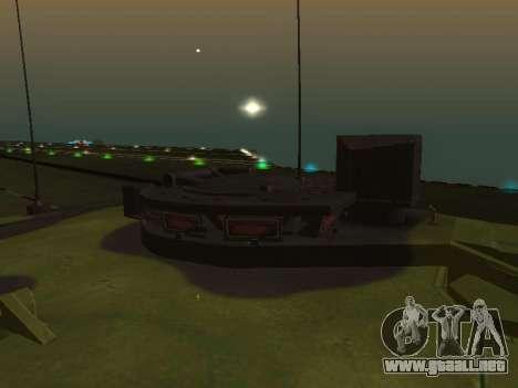 Challenger 2 para GTA San Andreas vista hacia atrás
