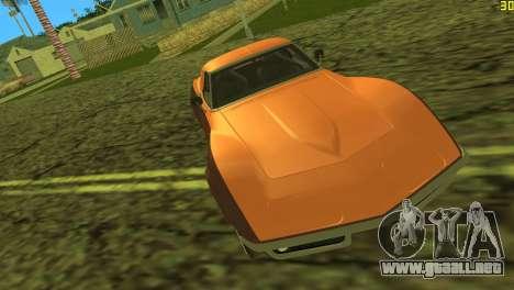 Chevrolet Corvette C3 Tuning para GTA Vice City vista superior