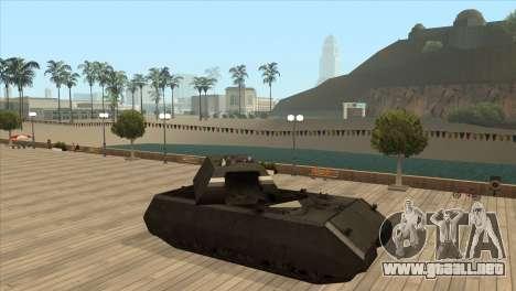 Panzerkampfwagen VIII Maus para GTA San Andreas quinta pantalla